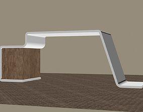 Computer table 3D model computer