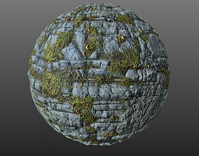 Mossy Cliff Rock 003 PBR Material 3D model