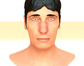 Textured Printable Male Head