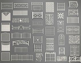 Fences - 40 pieces - collection-1 3D