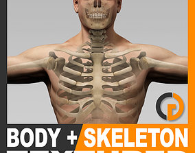 Human Male Body and Skeleton Textured - Anatomy 3D model