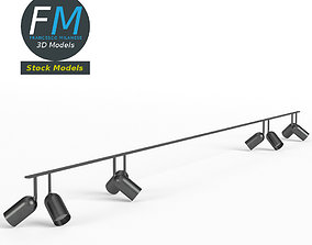 3D model Studio light ceiling frame rig