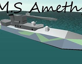 HMS Amethyst 3D model
