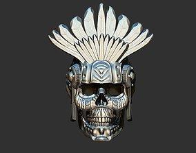 3D print model Aztec Skull