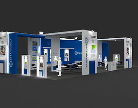Exhibition Stand 3D model stand
