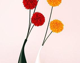 3D model Ceramic vases and flowers