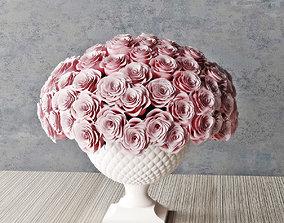 3D rose in vase 02