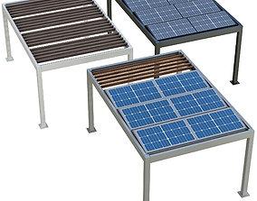 3D Metal pergola gazebo roller shutters and solar
