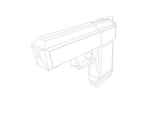 Space gun base 3D model