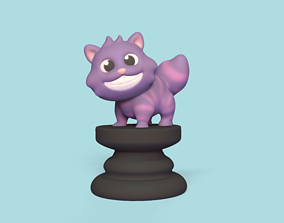 3D print model Alice Chess - Side A - Cheshire Cat - 1