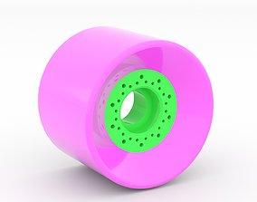 Longboard wheel 70x52 3D print model