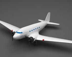 Plane 3D model boeing-747
