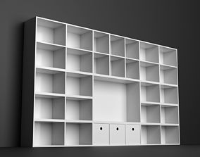 White Shelf 3D asset