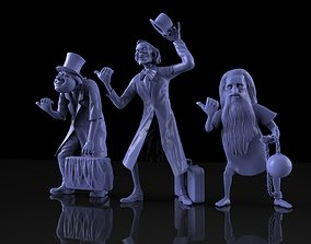 3D print model hitchhiking ghosts haunted mansion