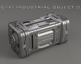 3D Sci-Fi Industrial Object 03