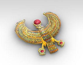 Egyptian horus golden falcon 3D model