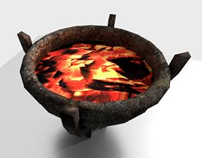 3D asset Iron Brazier