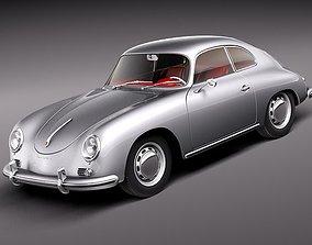 3D model Porsche 356A Coupe 1955