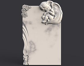 death Baby angel tombstone 3D printable model