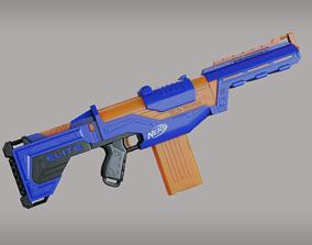 Blaster Nerf 3D asset game-ready