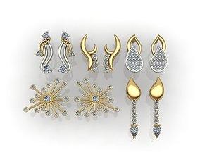 5 fashion earring print model