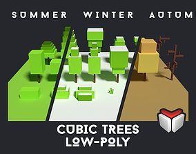 3D model Cubic Tree Assets
