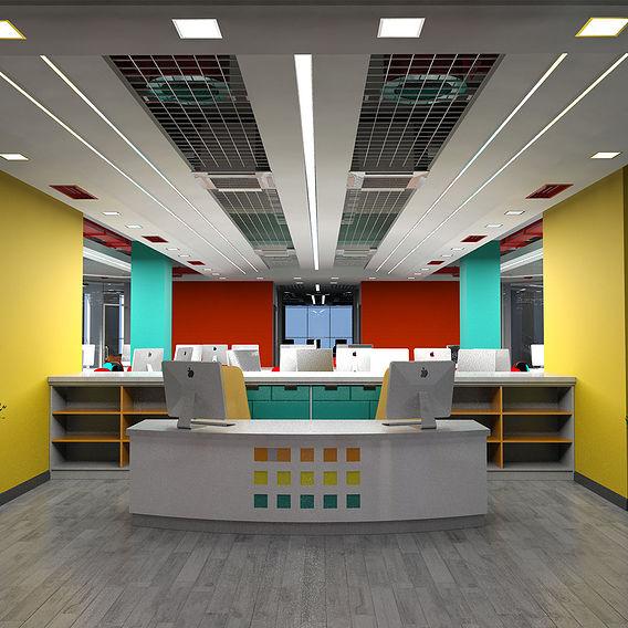 IT center interior design and furniture