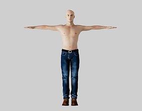 rigged Realistic Man 3D model