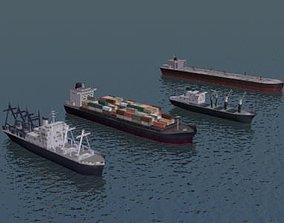 3D Cargo Ship Collection