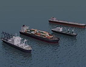container-ship 3D Cargo Ship Collection