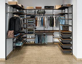 3D Wardrobe System With Clothing 1