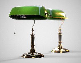 3D asset Bankers Antique Desk Lamp - PBR Game Ready