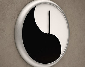 3D Yin and Yang Wall Clock 02