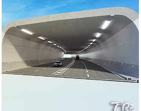 HIGHWAY TUNNEL SECTION 3D model