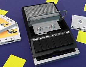 3D model tape recorder 3d