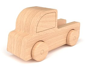 3D model Wooden toy truck 37