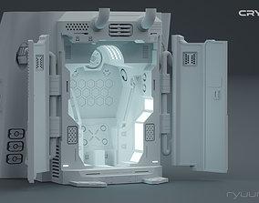 CRYO pod - low poly scifi 3D game asset VR / AR ready