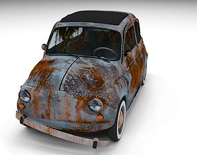 Weathered Fiat 500 Nuova 3D model