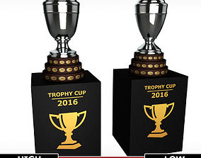 3D model Copa America cup trophy low detail