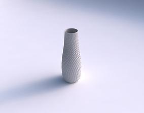 3D print model Vase with twisted diagonal grid dents