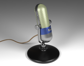 Vintage Microphone 3D animated