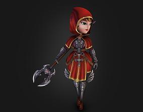 3D model Medieval chibi warrior