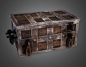 game-ready Ancient Treasure Chest 01 TRS - PBR Game Ready