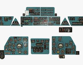 Mi-8MT Mi-17MT Panels Boards English 3D asset