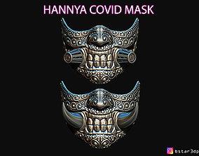 3D printable model Hannya Covid Mask - Devil Mask