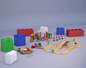 3D model Wood Toys Collection