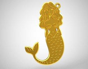 Mermaid Pendant 3D printable model