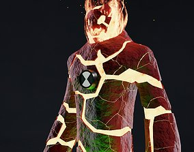 Heatblast from Ben 10 UV unwrapped and Textures 3D model