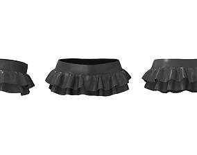Double Ruffle Micro Mini Skirt 3D asset