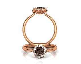 Chocolate Gem Engagement ring Printable 3d model N10316